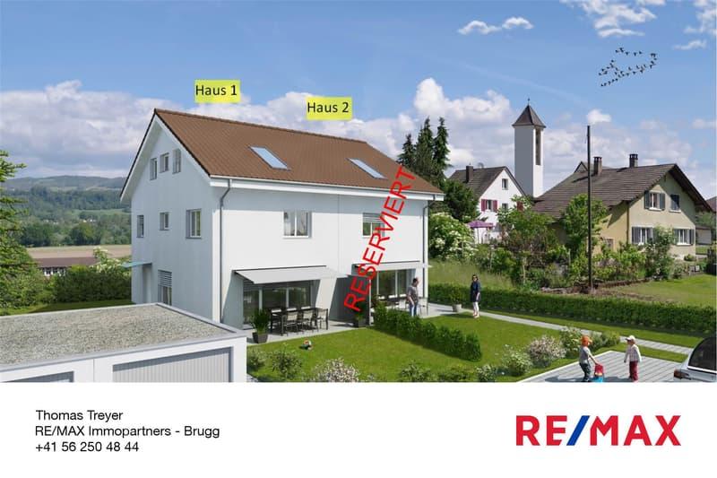 NEUBAU (Haus 1): Preiswertes & modernes 5½-Zi-Doppeleinfamilienhaus