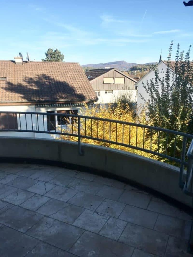 helle Dachwohnung mit Balkon, Hobbyraum und eig. Waschturm