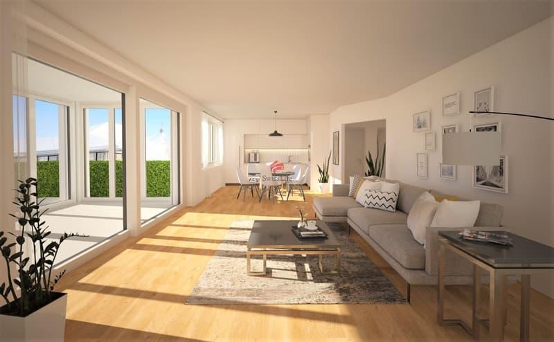 Wohnzimmer/Wintergarten im Erdgeschoss