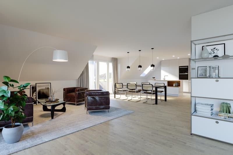 Einzigartige 4½ Zimmer-Wohnung mit grosszügigem und flexiblem Grundriss