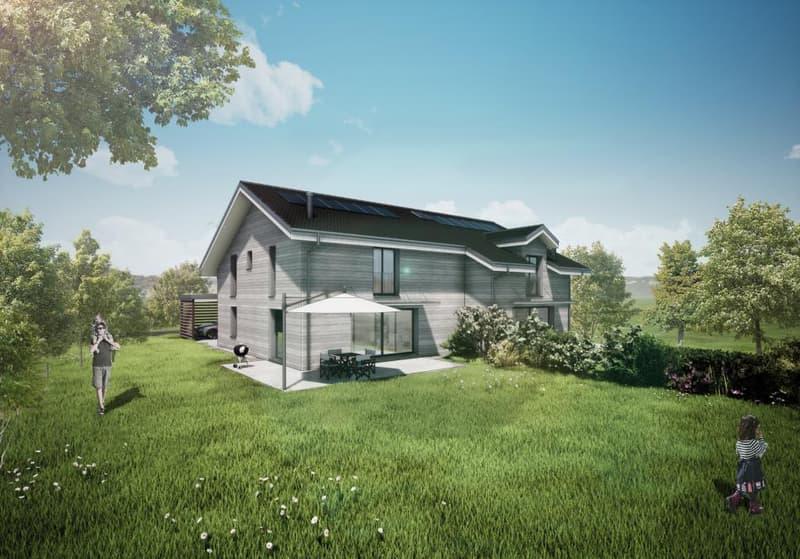 Nouveau, 2 belles villas mitoyennes neuves à Servion,sur un terrain plat et très bien orienté.