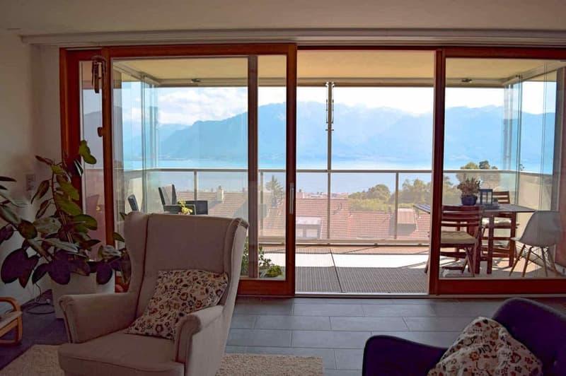 Bel appartement avec vue sur le lac et les Alpes
