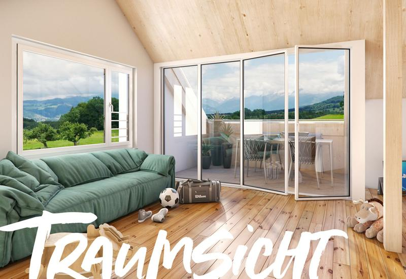 Aussicht aus der ersten Reihe - Wohngenuss im innovativen Holzhaus