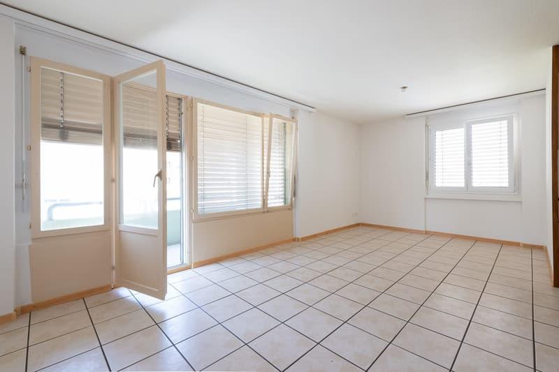 Einfache, saubere, praktische 3,5-Zimmer-Wohnung mit Balkon