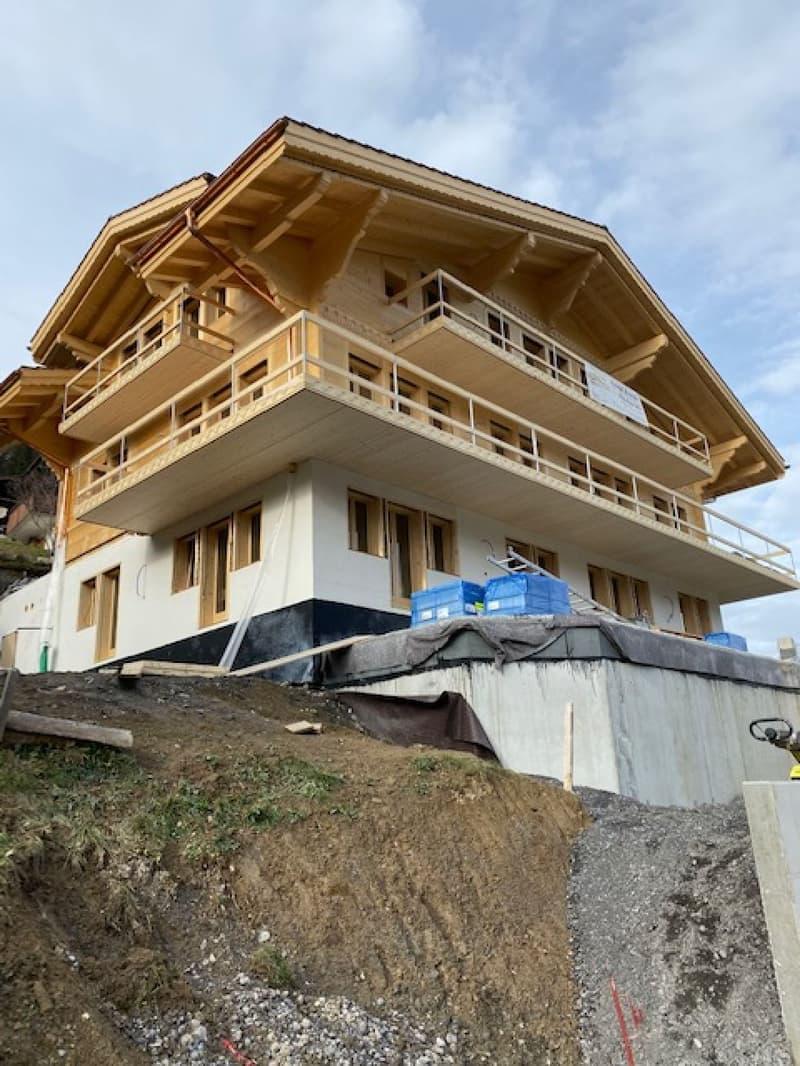 3.0-Zimmer-Neubauwohnung in Chalet zu vermieten / Apartment with 2 bedroom in new construction chalet for rent