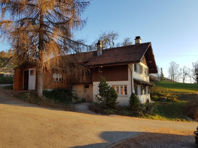 Hinwil-Girenbad – 3 Zimmer Haus (Stöckli) mit Umschwung und Blick ins Tal
