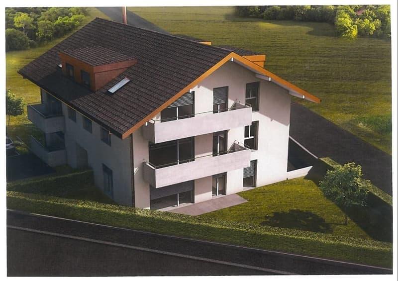 Appartement familial résidentiel récent en duplex