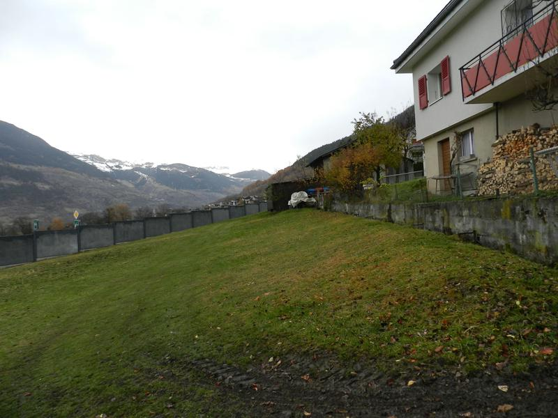 Grosse Baulandparzelle am Fusse des Simplon in Ried-Brig