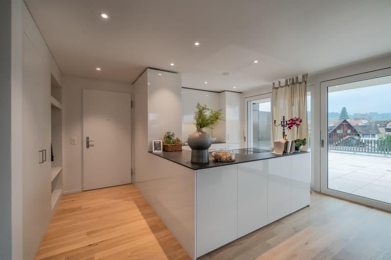 Musterwohnung Eingang / Küche