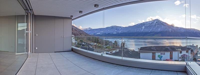 Moderne Neubauwohnung mit überragender See- und Bergsicht