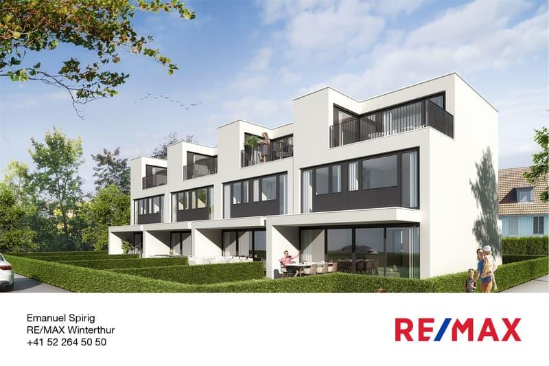 Neubauprojekt mit vier modernen Wohnhäusern