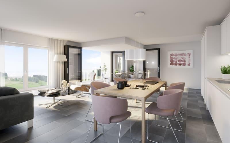 Erstbezug Juni 2020, nachhaltige 3 ½ Zimmer-Wohnungen in Goldingen zu vermieten