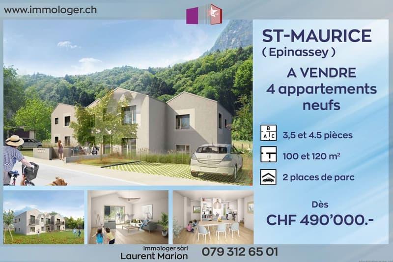 Saint-Maurice, 4 appartements neuf de standing