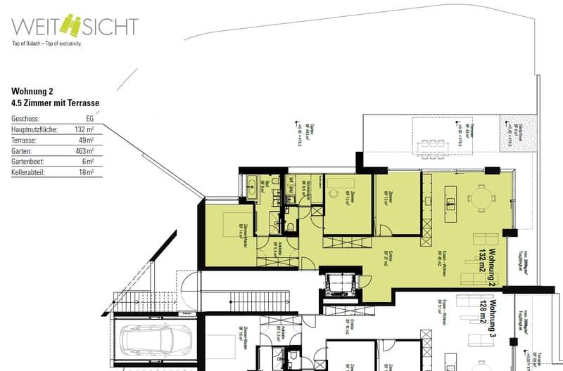 4.5-Zimmer-Grundrissvariante