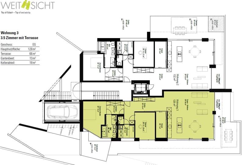 3.5-Zimmer-Grundrissvariante