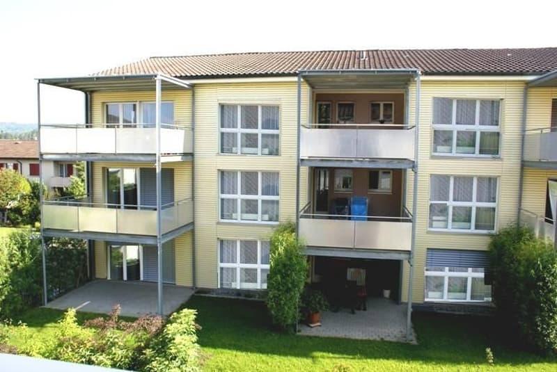 2.0-Zimmer-Wohnung mit grossem Sitzplatz in gepflegtem Mehrfamilienhaus