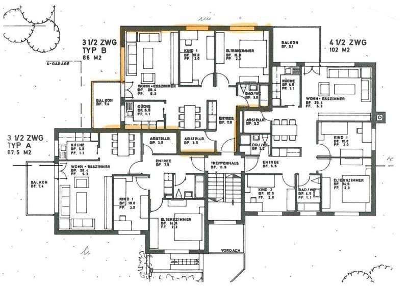 3½-Zimmerwohnung an ruhiger und zentraler Lage