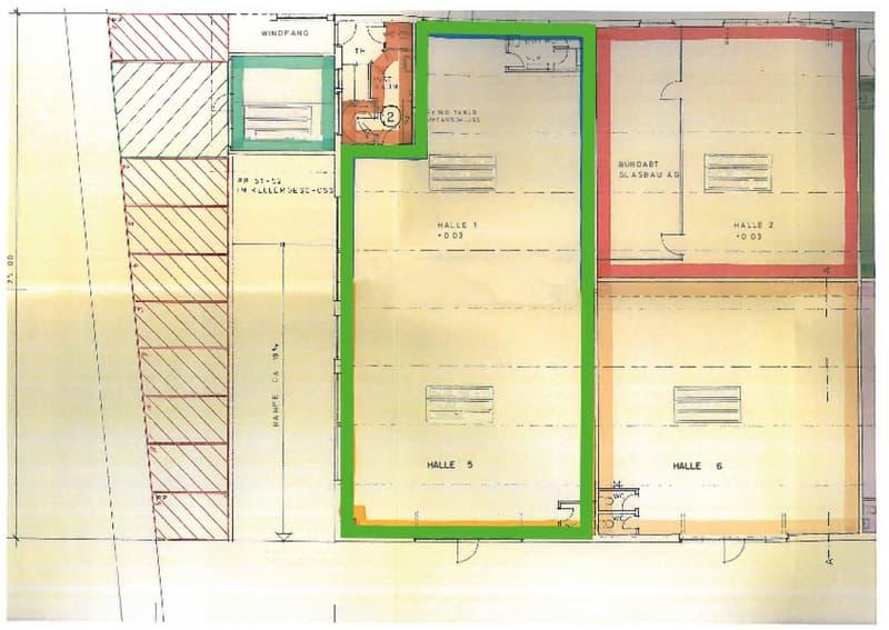 Grundriss (grün markiert)