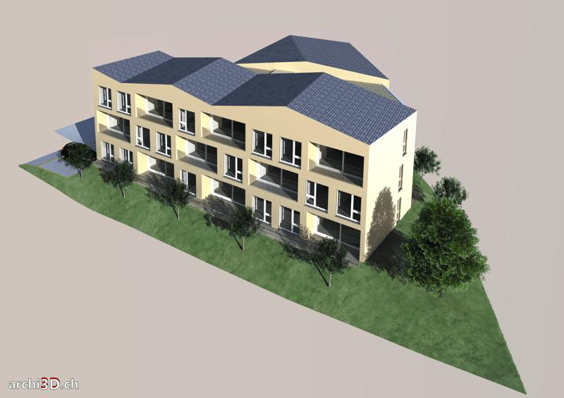 Bel appartement de 2½ neuf - Résidence Opaline