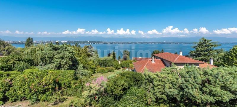 Villa de luxe Cologny, vue lac panoramique