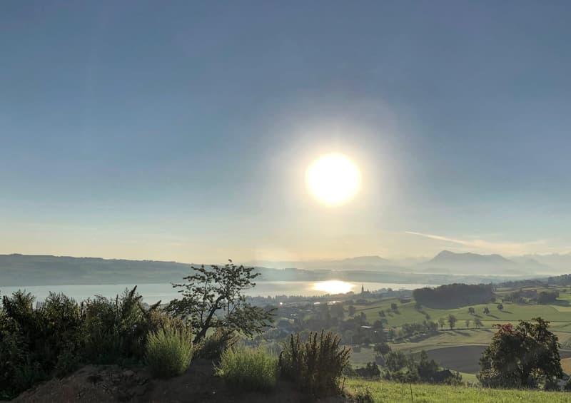 Aussicht See- und Bergpanorama