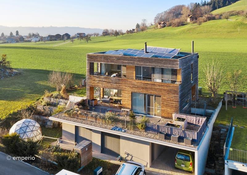 Elegant, modern und harmonisch - Wohnen und Arbeiten unter einem Dach