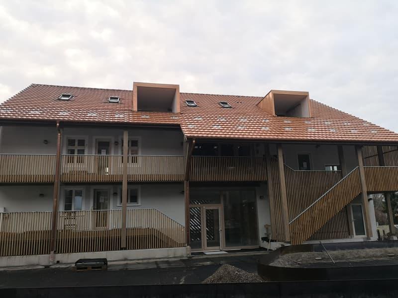 Liegenschaft Fraumattenstrasse 39, Ansicht von Hinterhof (Der Bau ist noch nicht fertiggestellt)