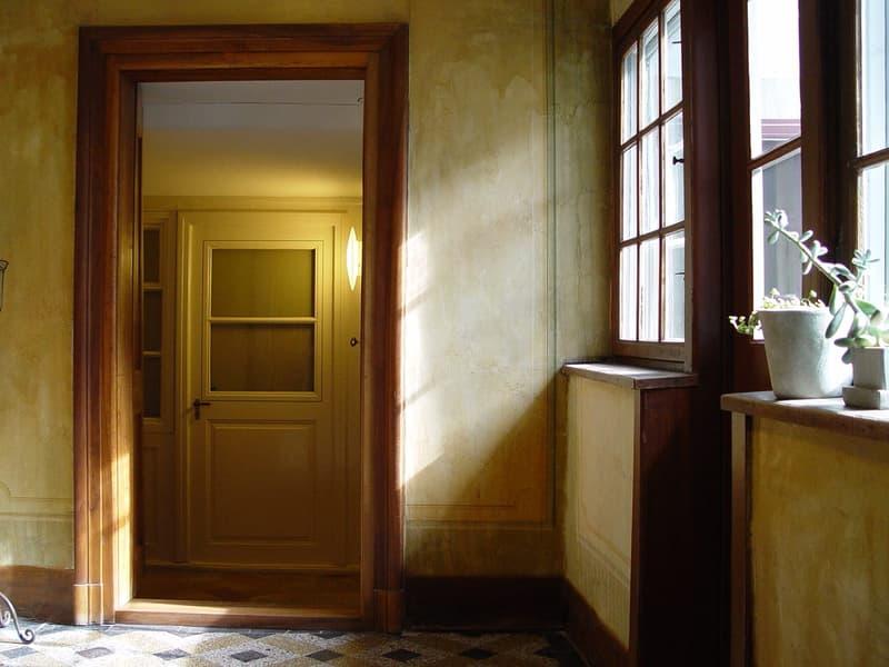 Wohnen im blauen Barocksaal im Haus der Conditorei Schober