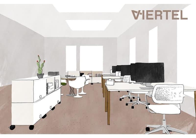 Illustration eines möglichen Büros