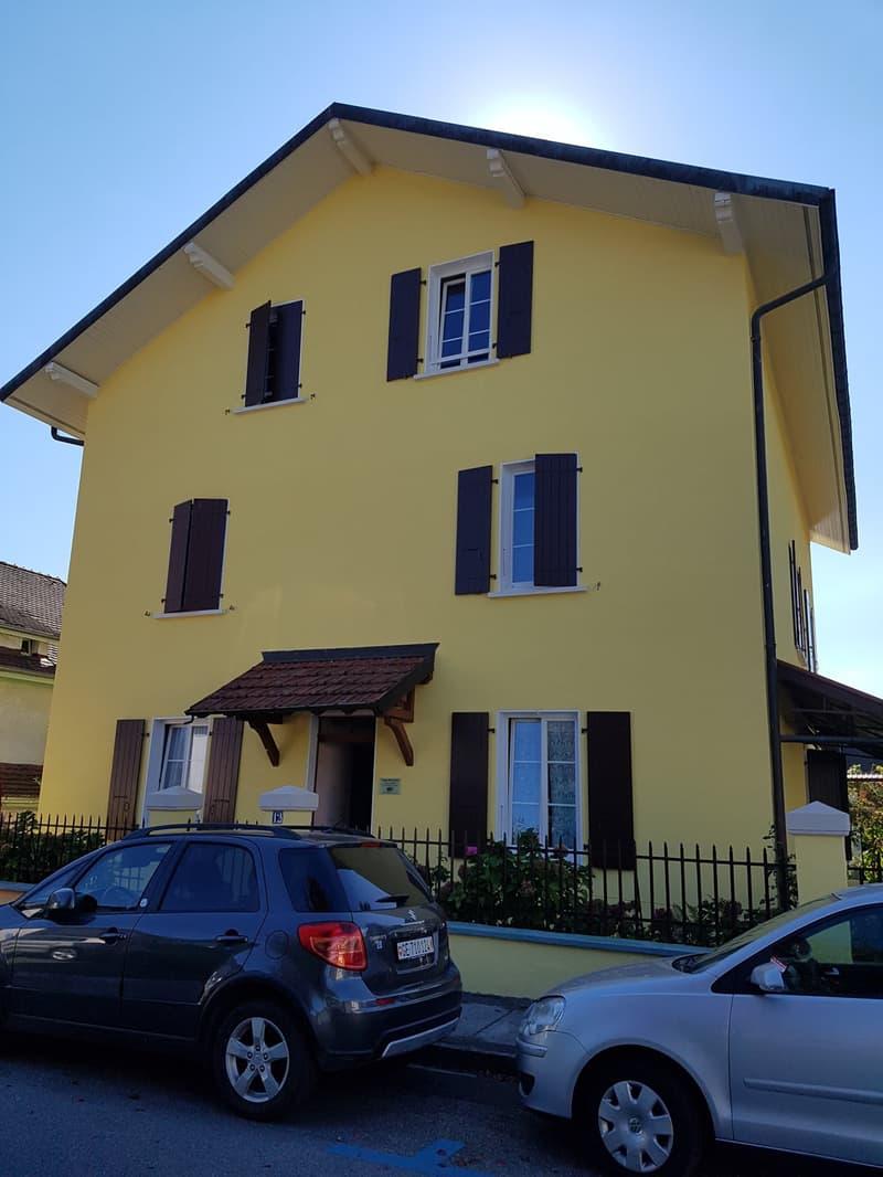 Appartement  3 pièces meublé au 1er dans une villa au coeur de Carouge