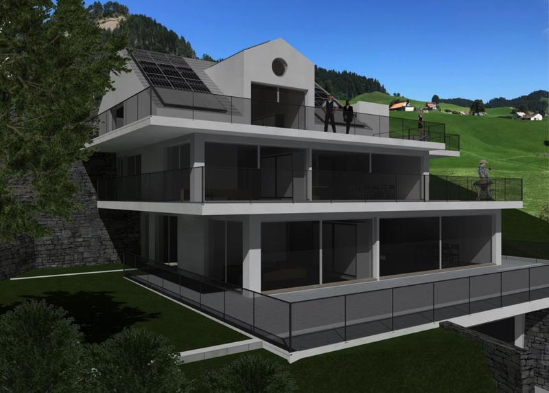 Terrassenhause 4.5 mit Weitsicht, sonnenverwöhnt, Altersgerecht, naturfreundliche Materialien usw.