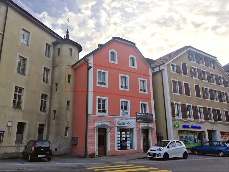 Bel appartement rénové de 3 pièces  Au centre de Fleurier