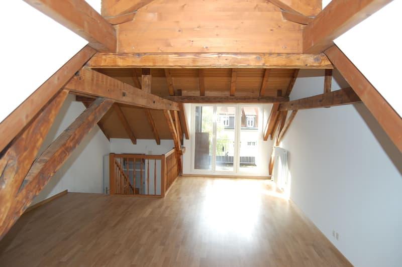 Attraktive Maisonette-Dachwohnung im Gundeli mit Blick aufs Bruderholz. (4)