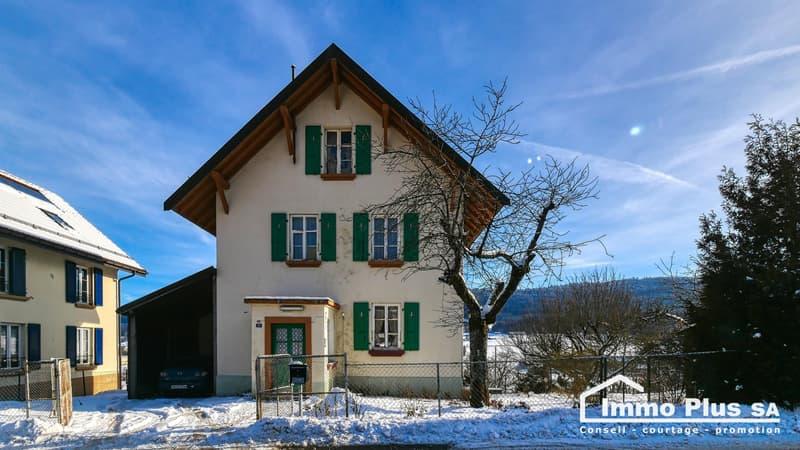 Maison de 160m2 avec terrain de plus de 1'850m2
