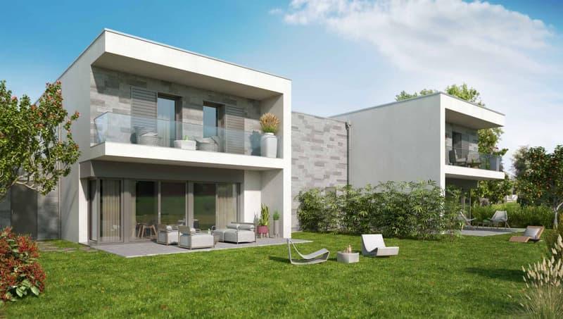 Maison semi-individuelles de 5.5 pcs à vendre sur plans à Crans-près-Céligny