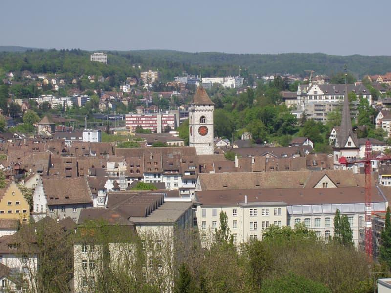 Weitsicht über Stadt Schaffhausen