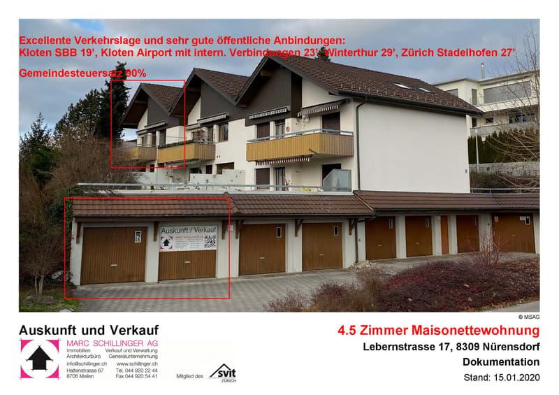 Zentrale, grosse Attikawohnung auf zwei Etagen, Balkon gegen SW mit Aussicht, Cheminée (1)