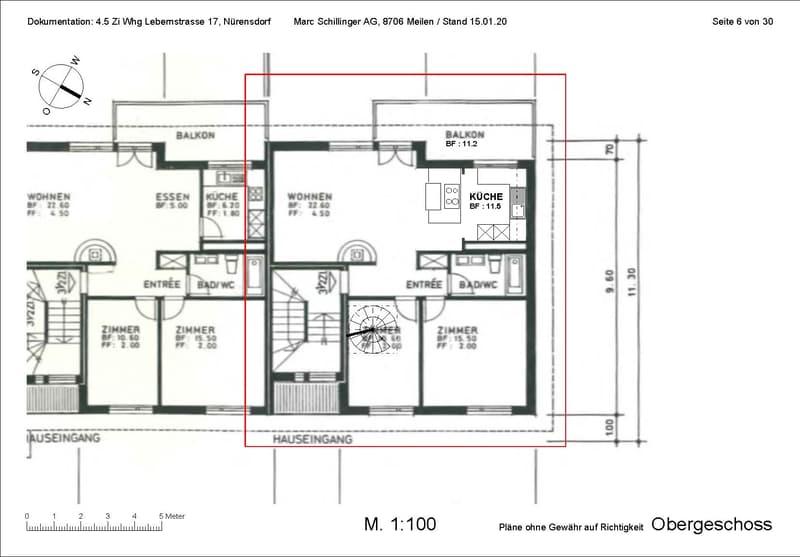 Zentrale, grosse Attikawohnung auf zwei Etagen, Balkon gegen SW mit Aussicht, Cheminée (3)
