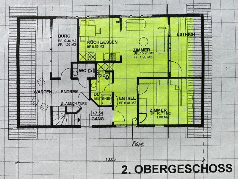 Zentral am Dorfplatz in Teufen - Gemütlich idyllische 2 1/2 Zi.Wohnung