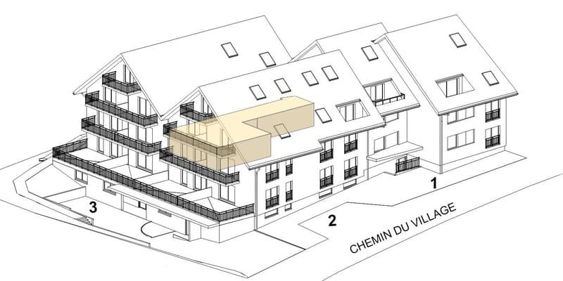 """FONTAINE VILLERAUX """"Encore 9 appartements"""" 3,5pc / 4,5pc / 5,5pc. (2)"""