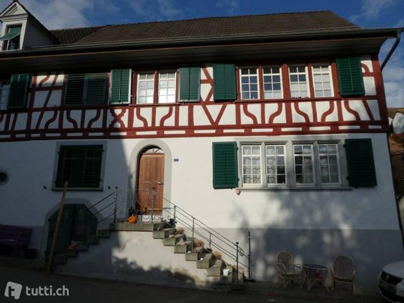 3 Zimmerwohnung in stilvollem älteren Riegelhaus an schönster Lage in Feuerthalen