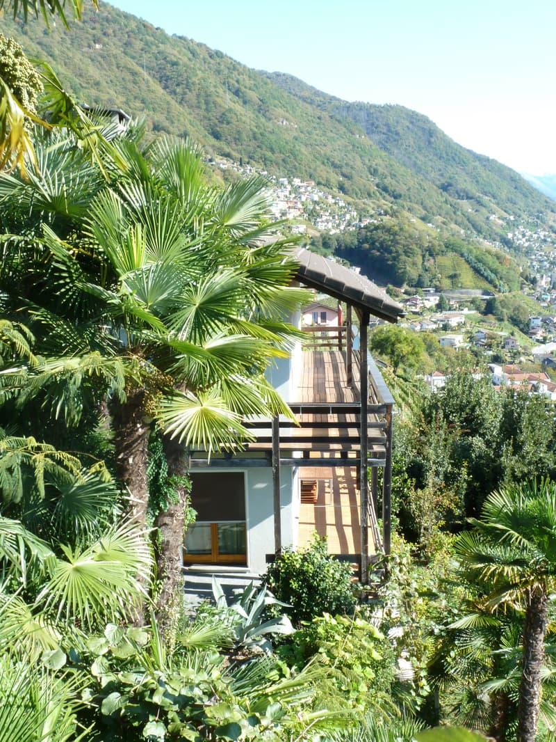 Gemütliche Wohnung mit herrlichem Panorama / appartemento con una splendida vista