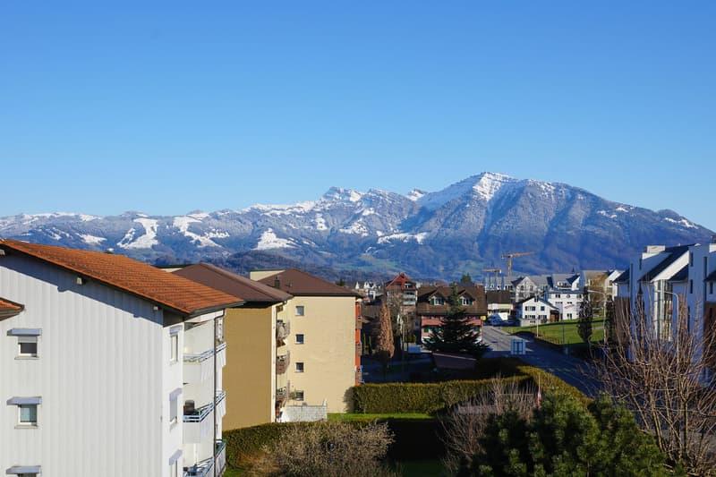 Aussicht von der Terrasse nach Osten