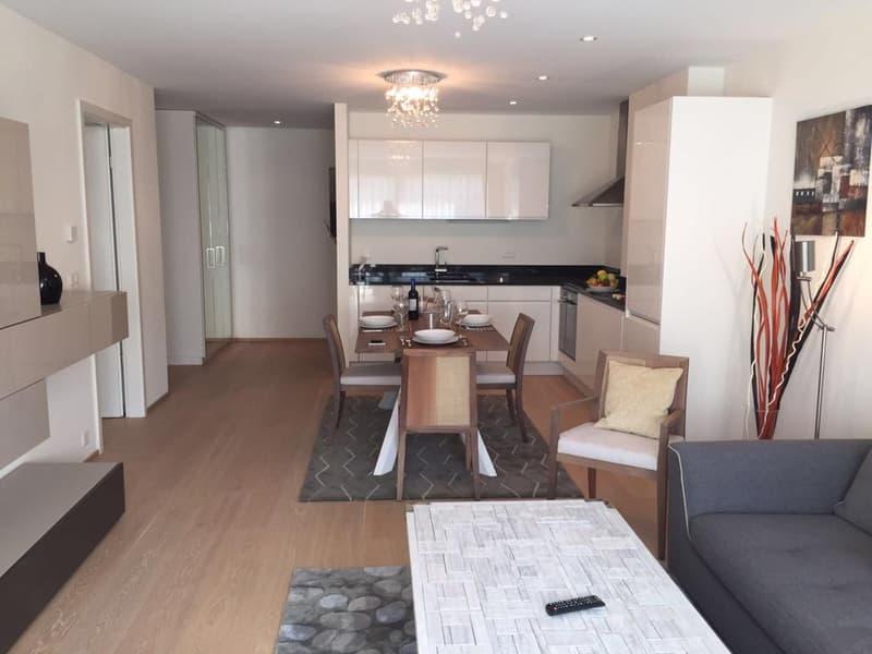 A Louer proche Parc Beaulieu, appartement 3.5 pièces meublé de standing