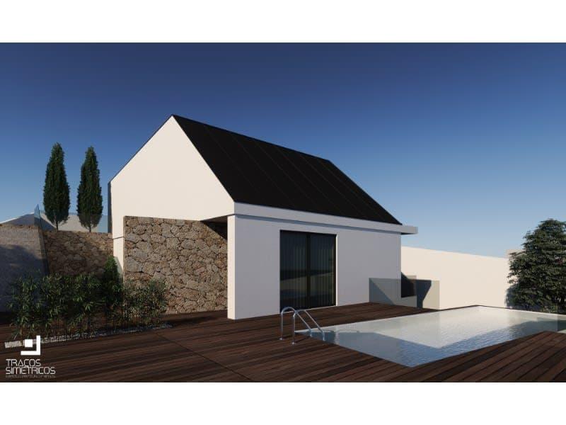 Terrain avec 846m2 à ville de Vila Nova de Gaia, avec le projet pour construire une villa de 4 façades avec piscine