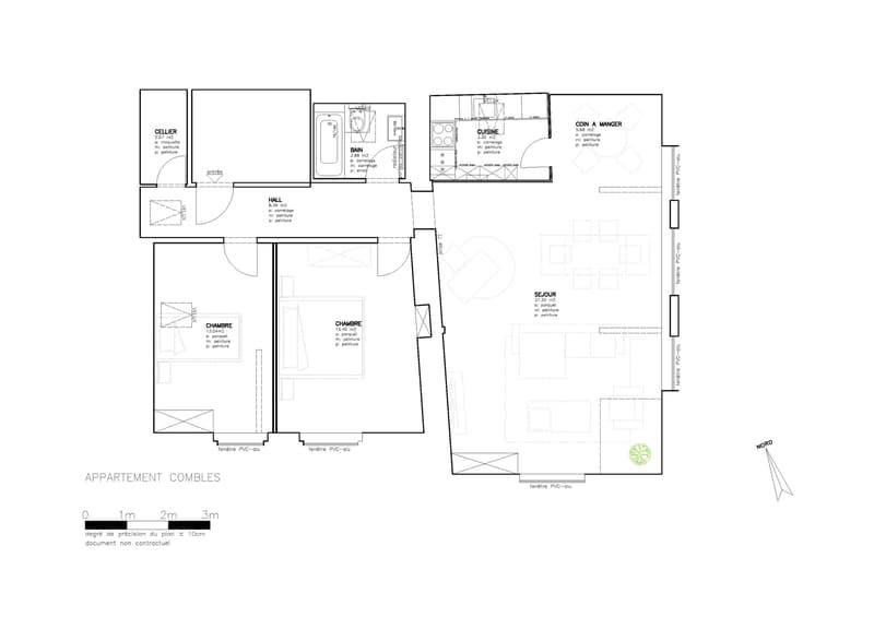 plan de l'appartement donner à titre indicatif. Sans valeurs juridiques