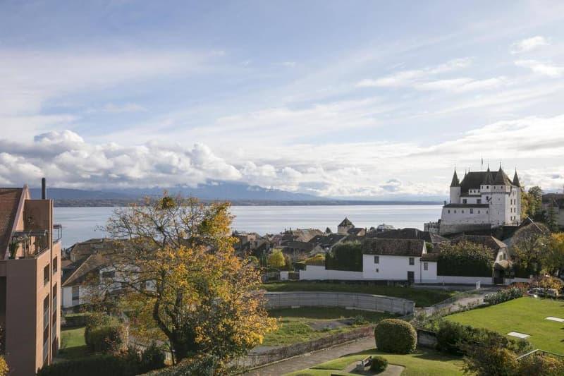Magnifique attique en duplex avec vue imprenable sur le lac et le château