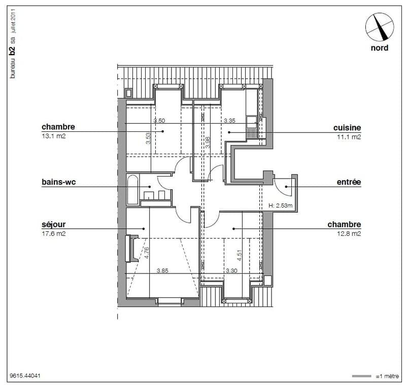 Magnifique appartement de 4 pièces au 4ème étage