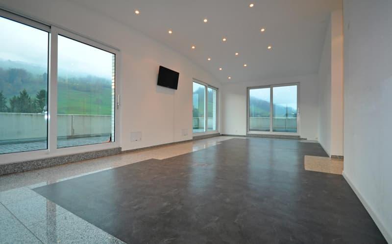 Grosszügiges Büro mit grossen Fensterfronten