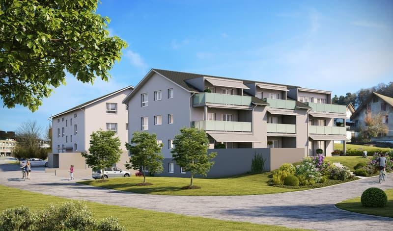 moderne 3½ Zimmer Neubauwohnung (513) mit grossem sonnigen Balkon